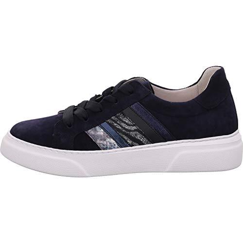 Gabor Damen Sneaker, Frauen Low-Top Sneaker,Best Fitting,Optifit- Wechselfußbett, Freizeit leger Halbschuh strassenschuh,Bluette Kombi,40 EU / 6.5 UK