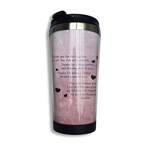 We Are Best Friends Forever Friends Coffee Travel Mug Car Tumbler Cup Iced Tea Or Water Bottle Insulated Thermal Cup Stainless Steel For Hiking,Camping, Working & Traveling