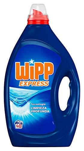 Wipp Express Detergente Líquido Azul, 40 Lavados, 2 Litros
