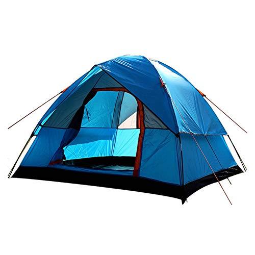 YSJJYQZ Tienda de campaña 3-4 Persona Capa Doble Camping Tienda de campaña Familia al Aire Libre Senderismo Playa Viajes Senderismo Tienda 200x200x130cm (Color : Blue)