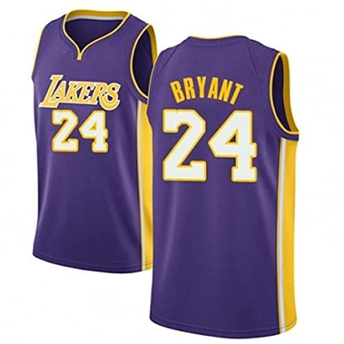YXST Camiseta De Baloncesto Lakers, 24 Malla Bordada De PoliéSter Top CláSico Transpirable Chaleco De Secado RáPido,Nuevo Tejido Bordado, Estilo Deportivo,8,M