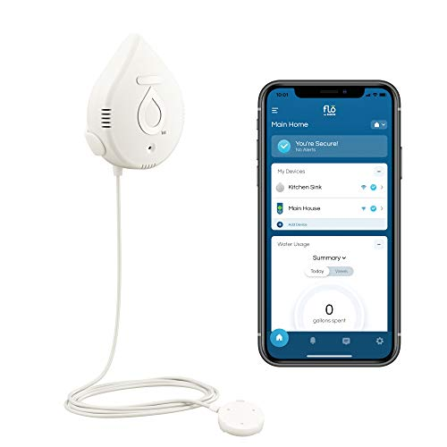 Moen 920-004 Flo by Moen Smart Water Detector Leak Detection System, 1-Pack