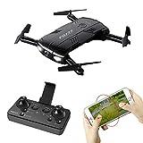 SSBH Mini Drone Plegable con cámara HD de 200 W WiFi Fijo Fotografía aérea Altura Aviones Quadcopters Control Remoto Avión Juguete for niños Regalo de cumpleaños de Navidad, 13.8 * 15.8 * 3.1 cm