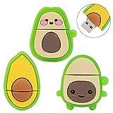 LEIZHAN Cute USB Flash Drive 32GB, 3 Pack Fruit Design Avocado Silicone USB 2.0 Thumb Drive Computer...