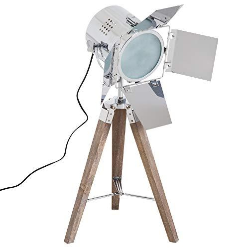 HOMCOM Tischleuchte Stativlampe Tripodlampe Tischlampe E14 Dreibein Retroleuchte 33x33x75cm