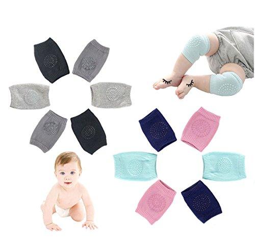 Youkap 6 Pair Infant Kleinkind Baby Kinder Elastische Knee Pad Krabbeln Anti-Rutsch Knieschoner Knieschützer Krabbelschoner Kleinkind Knieschutz
