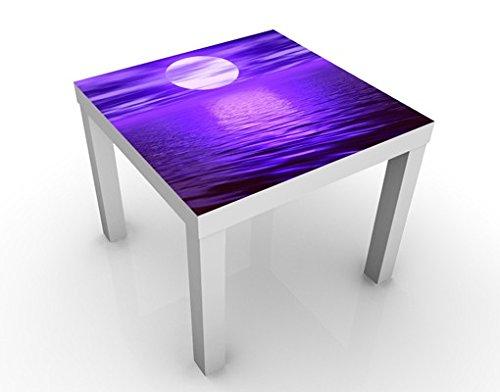 Apalis Table Basse Design Full Moon 55x55x45cm, Tischfarbe:Weiss;Größe:55 x 55 x 45cm