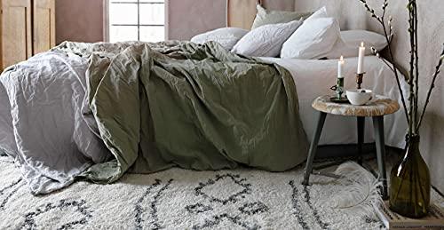 CarpetVista Alfombra Berber Shaggy Yani, Pelo Largo, 200 x 300 cm, Rectangular, Moderna, Oeko-Tex Estándar 100, Polipropileno, Cocina, Salón, Comedor, Blanca