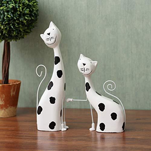 CKH Creatieve Houten Kat Tafel Decoraties Kabinet Boekenkasten Ornament Thuis Ambachten Paar Geschenken
