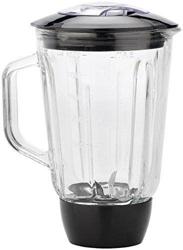 Rosenstein & Söhne Zubehör zu Küchenmaschine Glas: Glas-Mixer-Aufsatz für KM-4212 & KM-6618 (Küchenmaschine mit Glasbehälter)