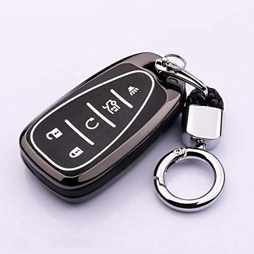HUAQIANYU Carcasa para llaves de auto Llavero, Aleación de zinc Luminoso Gel de sílice Carcasa para llaves de auto Carcasa para Honda City Civic Cr-V Hr-V Accord Jade Crider Odyssey, G, Gold F-Silver