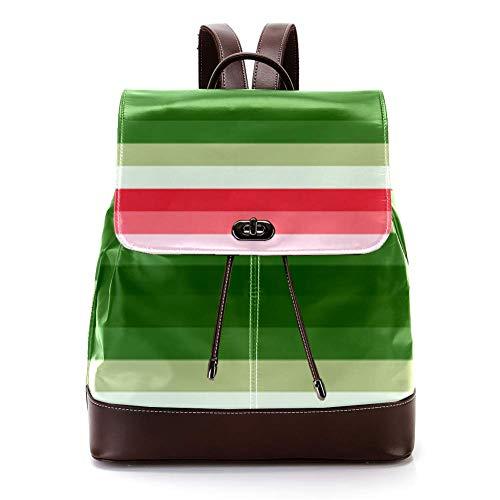 Lässiger PU-Leder-Rucksack für Männer, Frauen, Schultertasche, Studenten, Tagesrucksack für Reisen, Business, Uni, Wandfarbe, Test