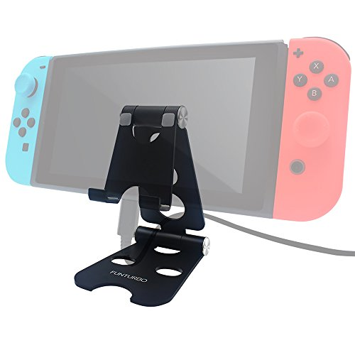 Funturbo Nintendo Switch Stand, Foldable Multi-Angle Stand for Nintendo Switch, Adjustable Switch Tablet Stand Cell Phone, Android Tablets, iPhone, iPad Compatible