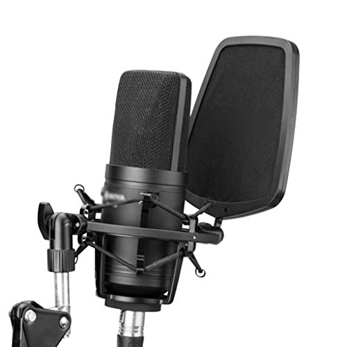 JJZXD Large Diaphragm Microphone Low-cut Filter Cardioid Condenser Mic for Studio Broadcast Live Vlog Video Recording Mic
