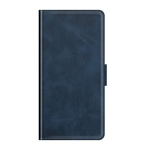 AKC Funda Samsung Galaxy A71(4G) Carcasa Caja Case con Flip Folio Funda Cuero Premium Cover Libro Cartera Magnético Caso Tarjetero y Suporte-Azul