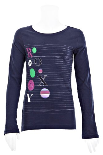 Roxy Santa Anna T-Shirt à Manches Longues pour Fille Bleu Indigo 176 cm/16 Ans