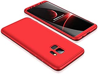 Samsung Galaxy S9 Case, ultra Slim Gkk 360 Protection Cover Case - Red