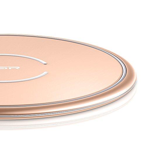ESR 10W/7.5W Wireless Charger kompatibel mit iPhone 11/11 Pro/11 Pro Max/XS/XR/X/8/8+,Samsung S20/S20+/S20 Ultra/S10/S10+/S10e/S9/S9+/S8/S8+ usw.( Rotgold)