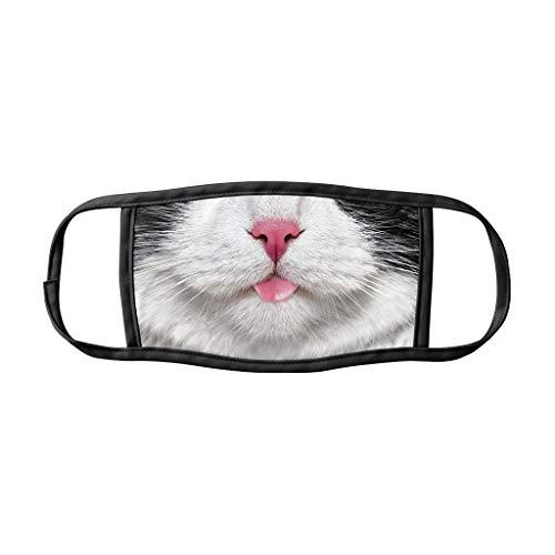 LULUZ Mundschutz Multifunktionstuch 3D Katze Hund Drucken Bandana Maske Animal Print Waschbar Stoffmaske Baumwolle Mund-Nasen Bedeckung Atmungsaktiv Tiermotiv Halstuch Schals Herren Damen