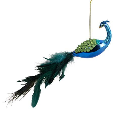 Northlight 12' Green and Blue Textured Peacock Christmas Ornament