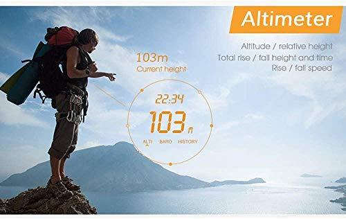 Reloj inteligente multifuncional para deportes al aire libre Altitud Altitud Tiempo Despertador Reloj Pesca Impermeable