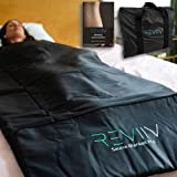 REVIIV Far Infrared Sauna Blanket - Low EMF Portable Sauna for Home Detox Calm Your Body and Mind, Home Sauna Thermal Heated Blanket Therapy
