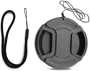 FitHom Universal Camera Lens Cap Snap on Center Pinch Lens Covers for DSLR Cameras with Cap product image
