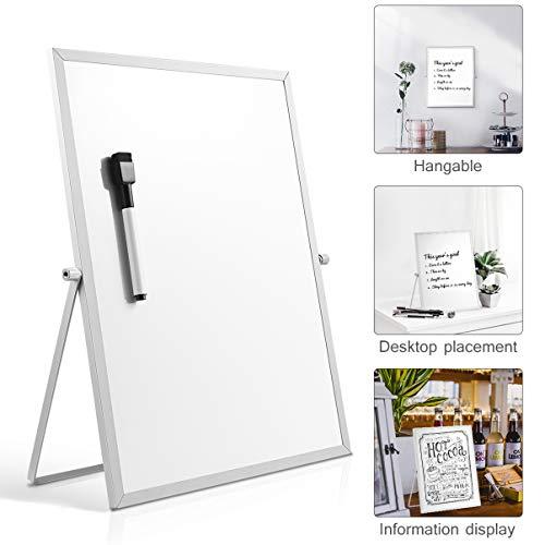 STOBOK Tischplatte magnetische trocken löschen Board doppelseitige Whiteboard kleiner Planer mit Ständer für Office Home School