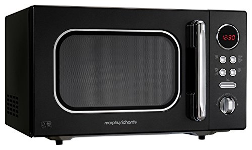 Morphy Richards Microwave Accents Colour Collection 511510 23L Digital Solo Microwave Black
