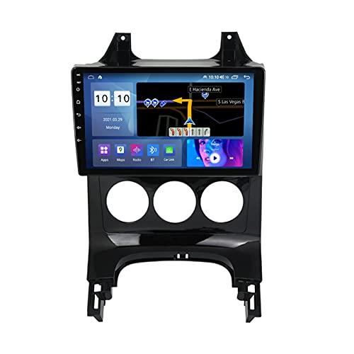 ADMLZQQ Android 10.0 Car Stereo Radio Navegación GPS para Peugeot 3008 2009-2015, 9 Pulgadas Pantalla Táctil Bluetooth Carplay FM Am USB DSP Control del Volante Cámara Trasera,M600s 8core 6+128g