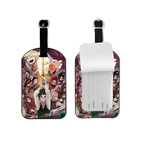 My Hero Academia etiqueta de equipaje elegante y exquisita, hecha de piel sintética de microfibra, apta para maleta y bolso
