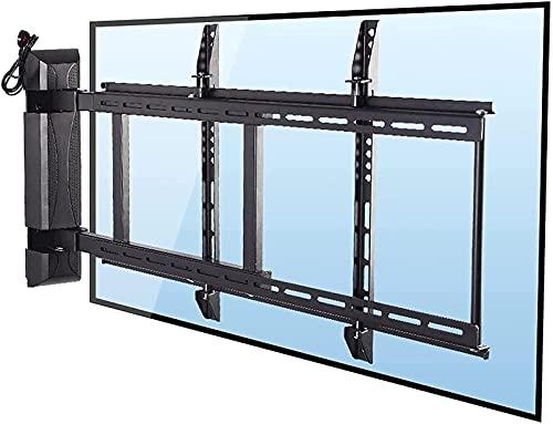 QUERT Soporte de rotación de TV montado en la Pared con Control Remoto para TV eléctrico para la mayoría de televisores de Pantalla Plana de 32-55 Pulgadas (Color: Negro)