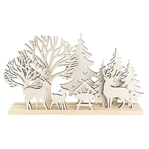 3-D Landschaft zum Stecken, Waldszene, Podest & versch. Holzelemente, 11-teilig
