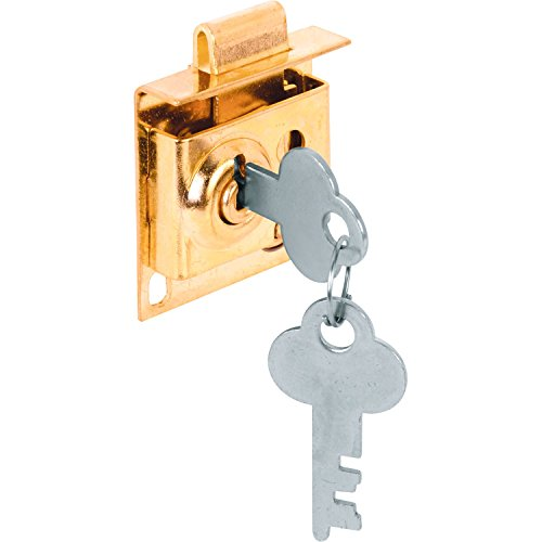 Prime-Line Products S 4049 Mail Box Lock, Keyed, 5/16-Inch Bolt, Brass Plated