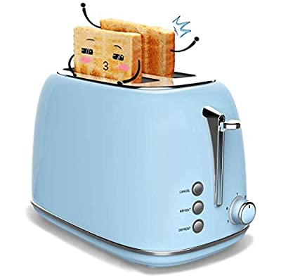 Toaster 2 Slice, Stainless Steel Toasters with Cancel, Defrost Function, Extra Wide Slot Compact Stainless Steel Toasters for Bread Waffles