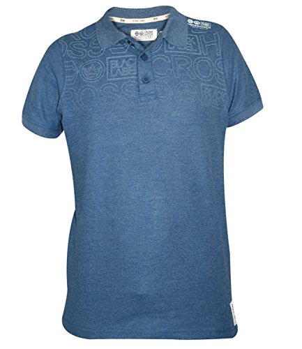 Mens Cross Hatch Short Sleeve T Camiseta Summer 100% Cotton Printed PK Polo Top