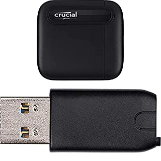 Crucial CTUSBCFUSBAMAD X6 4 TB External Portable Solid State Drive – Up to 800 MB/s – USB 3.2 – USB-C - CT4000X6SSD9 + USB-C to USB-A Adapter (B08WK8NYHD) | Amazon price tracker / tracking, Amazon price history charts, Amazon price watches, Amazon price drop alerts