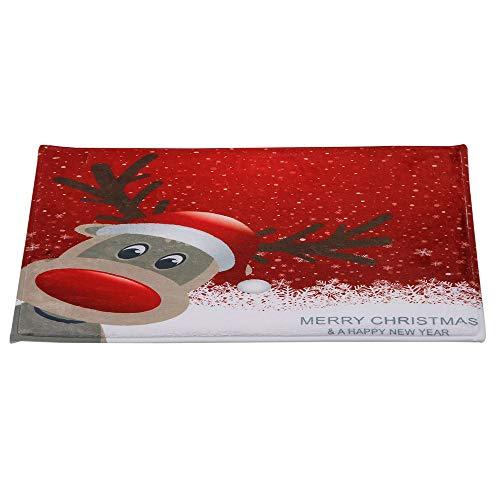 DOGZI Schmutzfangmatte Fußmatte Aussen Innenbereich Bodenschutzmatte Teppich - Frohe Weihnachten Willkommen Fußmatten Indoor Home Teppiche Decor 40x60CM