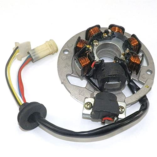 Nuevo estator magneto para 2 tiempos 49cc 50cc 1pe40qmb j.o.g 50 scooter 6 cables (Color : A)