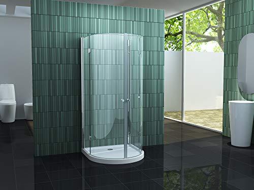 faltbare U-Duschkabine Circus 90 x 90 x 195 cm ohne Duschtasse