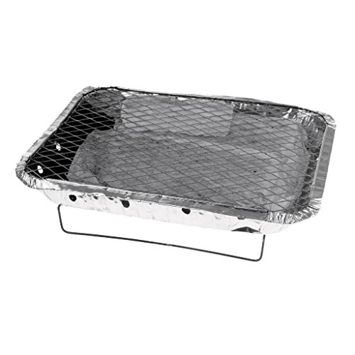 F Fityle Einweg Instant Barbecue Party Größe Large Grill BBQ Tablett