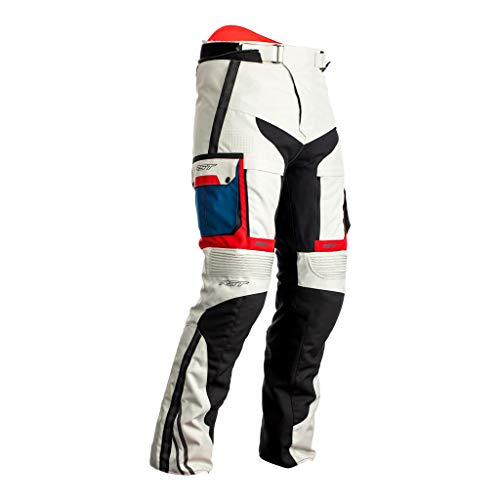 RST Pro Series Adventure-X Motorrad Textilhose Weiß/Blau/Rot 52
