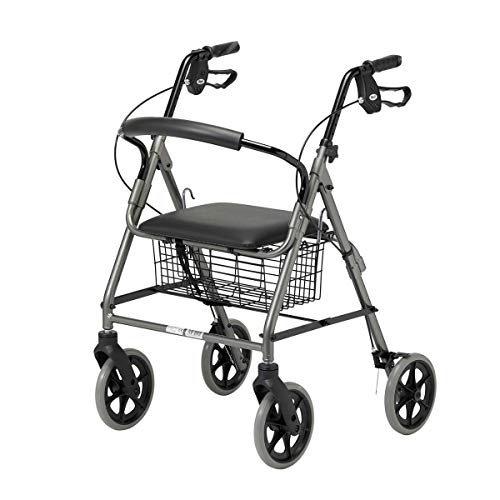 Homecraft Four Wheeled Rollator Walker with Cable Breaks - Quartz