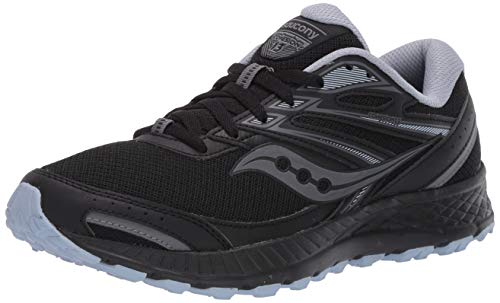 Saucony womens Cohesion Tr13 Running Shoe, Black/Grey/Blue, 10.5 US