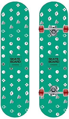 XKstyle Standard Skateboard, Double-sided Maple Board, 31 * 7.8 Inch Concave Long Board, Divided Into 8 To 16 Y Weight 75 Kg