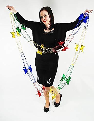 Party Heaven - Ghirlande da appendere a soffitto, 1,8-5,5 m, colore: Rosso/Verde/Oro/Blu multicolore