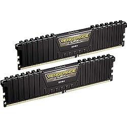 Corsair CMK16GX4M2B3000C15 Vengeance LPX Memorie XMP 2.0 di alte prestazioni per Desktop a Elevate Prestazioni, 16 GB (2 X 8 GB), DDR4, 3000 MHz, 1.35V, C15, Nero, dissipatore calore