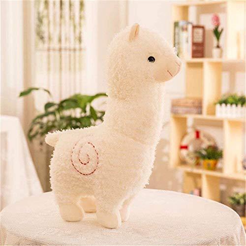 Amyseller Niedlich Alpaka Plüschtier Puppe Schaf Plüsch Kissen Stofftiere (Weiß, 45cm)
