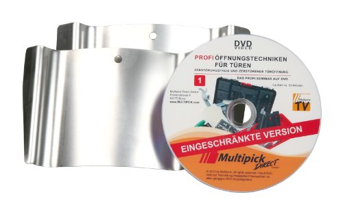 Multipick Original: Türfallengleiter Set 2-tlg. 15 mm + 20 mm inkl. Profi-Anleitung auf DVD