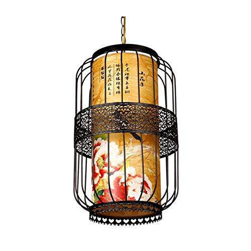 LHHH Chinas Pequeñas linternas China Antigua Linterna Chandelier Peony Flower Tea Restaurante Hotel Hot Pot Restaurante Iluminación Interior